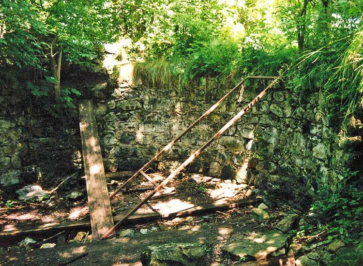Wagrain: Innenseite des Bergfrieds (Foto 1998)