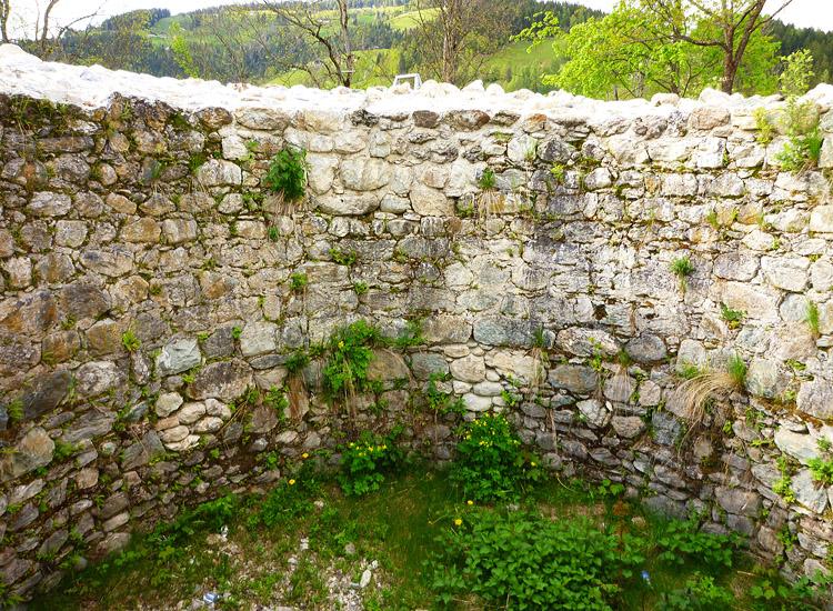 Wagrain: Innenseite des Bergfrieds (Foto 2010)