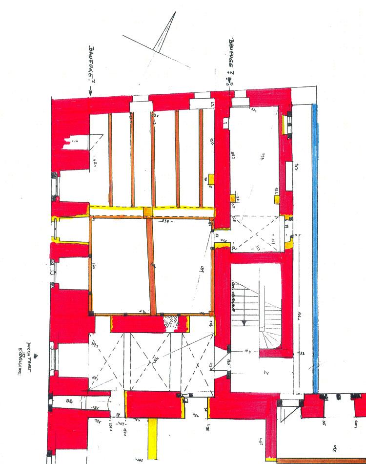 Wels: Grundriss Westtrakt, 1. Obergeschoß