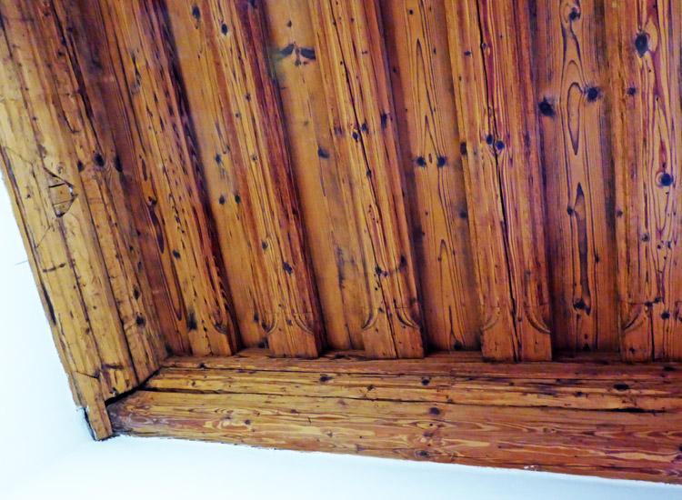 Wels: Deckekonstruktion in der Stube im Südtrakt