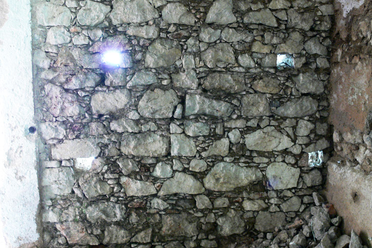 Wildenstein.: spätgotisches Mauerwerk im Inneren