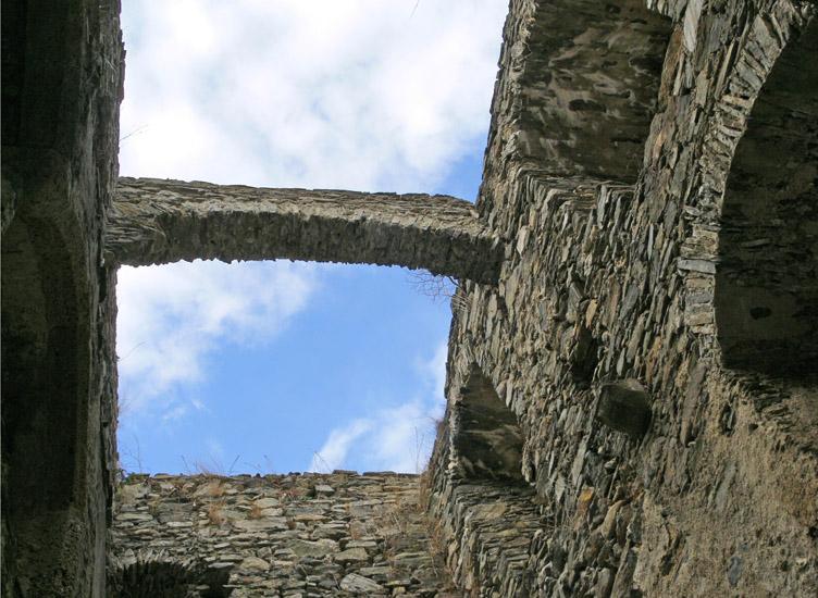 Hauenstein: Wohnturm 2. OG, Mauerbogen
