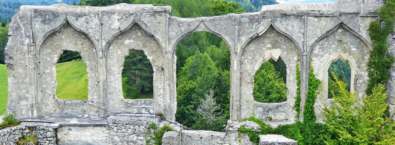 Finkenstein: Westseite des spätgotischen Palas , Innenseite