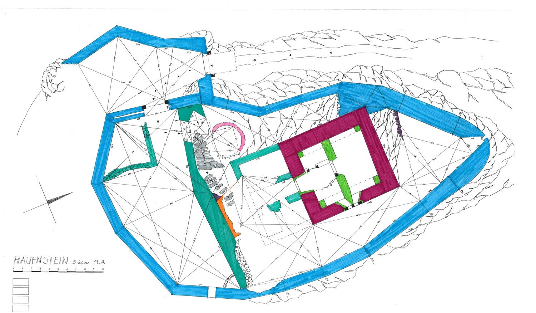Hauenstein: Grundriss und Baualterplan, 2000