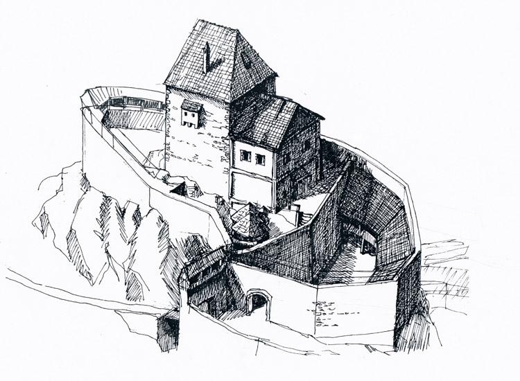 Hauenstein: Reonstruktionsversuch der Burg um 1500