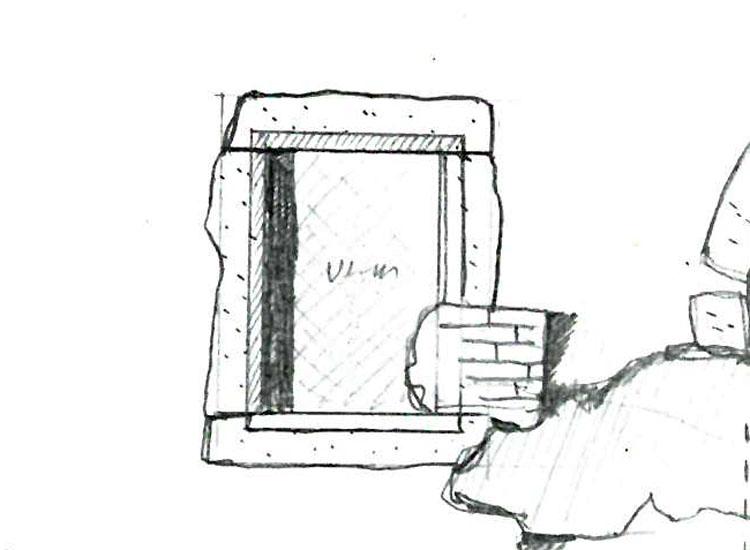 Rauhenstein: gotisches Rechteckfenster